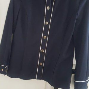 ST JOHN COLLECTION MADE IN US, NAVY BLUE JACKET M.